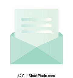 styl, wnętrze, koperta, ilustracja, re, pisemny, wektor, projektować, litera, ty, zapraszany, ikona