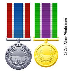 styl, wojskowy, medals