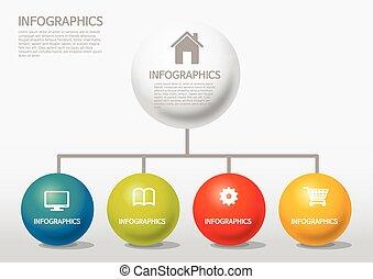 styl, wykres, kula, -, info-graphic