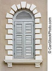 style, -, élément, renaissance, fenêtre, architectural