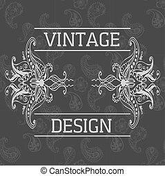 style, éléments, indien, résumé, vecteur, mehndi, floral