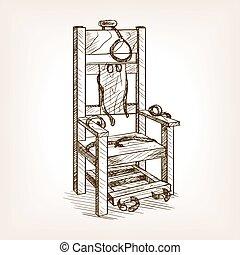 style, électrique, croquis, illustration, vecteur, chaise