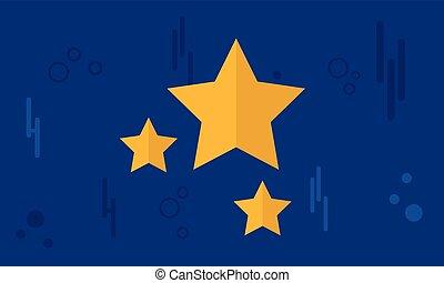 style, étoile, fond, or