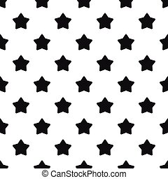 style, étoile, simple, grand, pointu, modèle, cinq