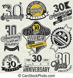 style, 30, vendange, anniversaire