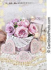 style, amour, mesquin, valentines, décoration, mariage, chic, ou, romantique