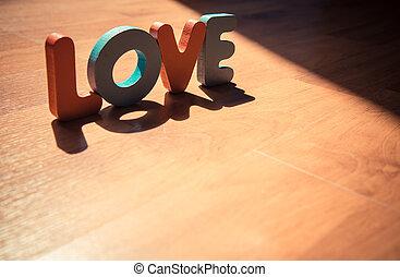 style, amour, ombre, plancher bois, ombre, laminate, mot