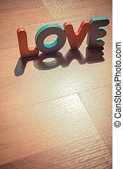 style, amour, plancher, bois, laminate, 4, ombre, mot, ombre