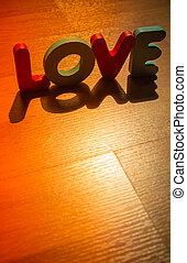 style, amour, plancher, bois, laminate, 5, ombre, mot, ombre
