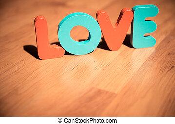style, amour, plancher, bois, laminate, clair, 2, poser, mot