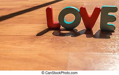 style, amour, plancher, bois, laminate, ombre, 9, mot, ombre