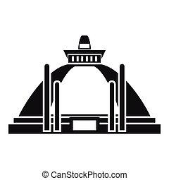 style, ancien, simple, polonnaruwa, stupa, icône