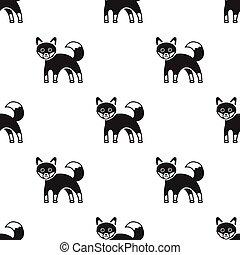 style, animaux, illustration., modèle, renard, isolé, arrière-plan., vecteur, noir, blanc, icône, stockage