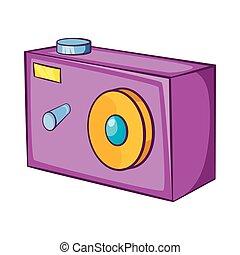 style, appareil photo, dessin animé, icône