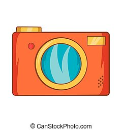 style, appareil-photo photo, retro, icône, dessin animé