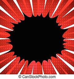 style, art, cadre, lignes, pop, manga, arrière-plan., livre, anime, radial, superhero, comique, vitesse, ou, explosion
