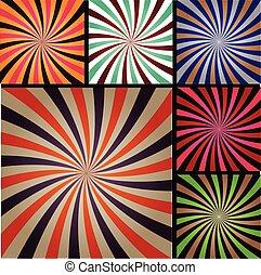 style, art, coloré, lignes, pop, arrière-plan., livre, radial, superhero, comique, explosion