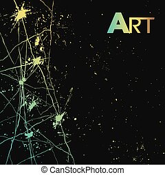 style art color background