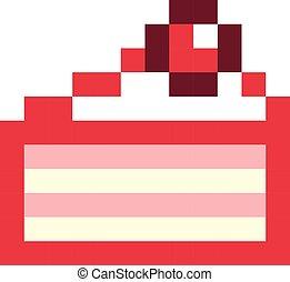 Style Art Pixel Jeu Anniversaire Retro Gâteau Dessin