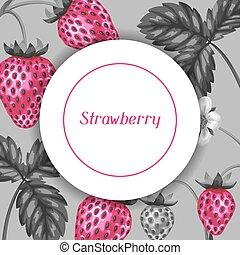 style, art, résumé, pop, fraises, cadre