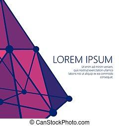 style, balle, lattice., dots., lignes, connecté, polygonal, arrière-plan., maille, conception, points., brochure., polygons., portée, structural, moléculaire, en-tête lettre, grille