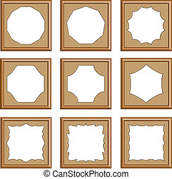 style, bois, découpé, cadre