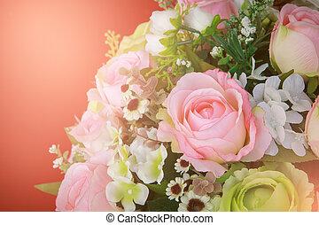 style, bouquet, vendange, décoration, fleurs, maison, arranger
