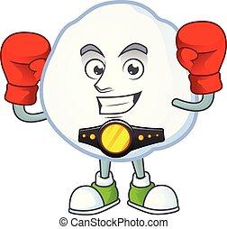 style, boxe, boule de neige, rigolote, dessin animé, caractère