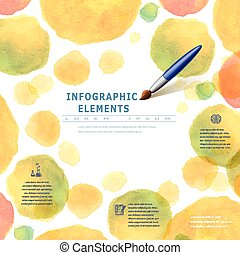 style, brosse, aquarelle, infographic, education
