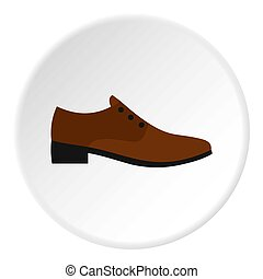 style, brun, icône, homme, chaussure, plat