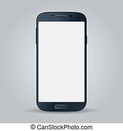 style, business, mobile, isolé, téléphone, vecteur, arrière-plan noir, blanc