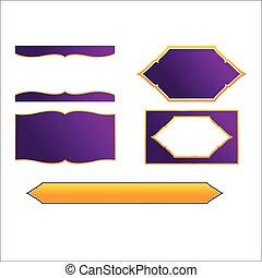 style, cadre, vecteur, conception, thaï, frontière