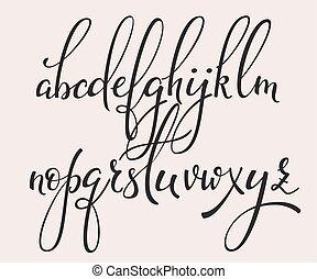 style, calligraphie, brosse, cursif, police, manuscrit