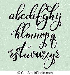 style, calligraphie, brosse, manuscrit