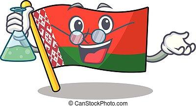 style, caractère, prof, drapeau, dessin animé, sourire, belarus