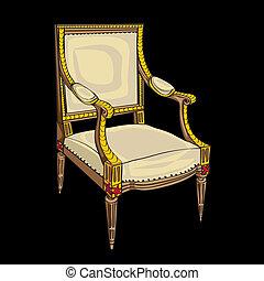 style, chaise, classique