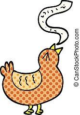 style, chanson, dessin animé, livre, comique, oiseau