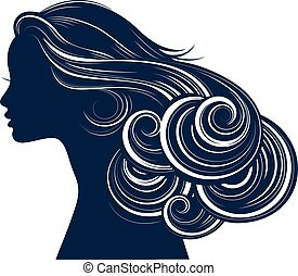 style, cheveux, silhouette, femme