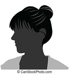 style cheveux, silhouette, figure