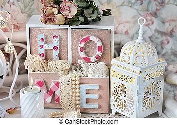 style, chic, décoration, mesquin, maison