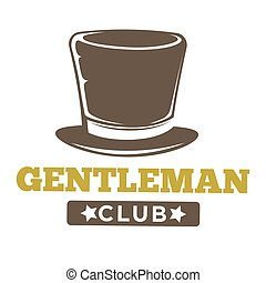 style, club, vendange, messieurs, logo, blanc