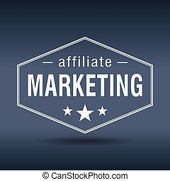 style, commercialisation, étiquette, affiliate, retro, vendange, hexagonal, blanc