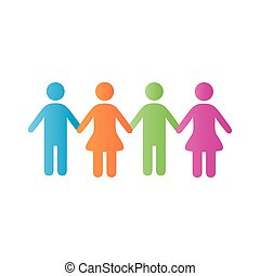 style, communauté, groupe, degradient, icône