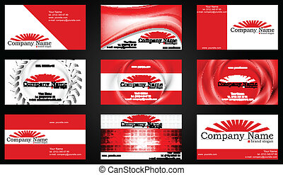 style, concept, business, rouges, cartes.