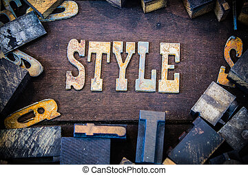 Style Concept Rusty Type