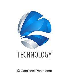 style, concept, symbole, trois, élément, dimensionnel, graphique, gabarit, logo, technologie, design.