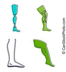 style, contour, ensemble, couleur, humain, jambes, icône