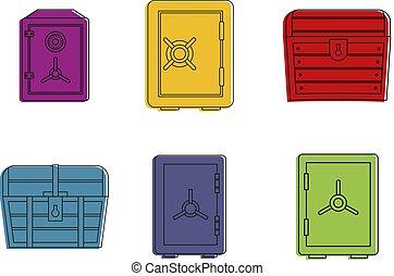 style, contour, ensemble, couleur sûre, icône