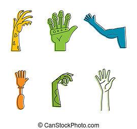 style, contour, ensemble, main, couleur, humain, icône