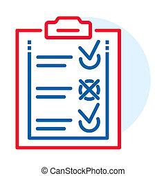 style, contour, liste, livraison, icône, chèque